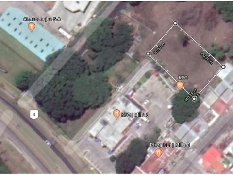 alquiler terreno milla 8 ubicacion estrategica