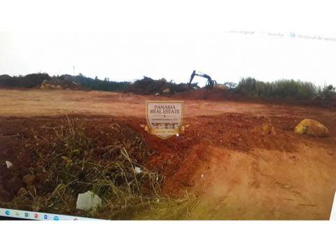 terreno con zonificacion para inversion inmobiliaria en chorrera lisa