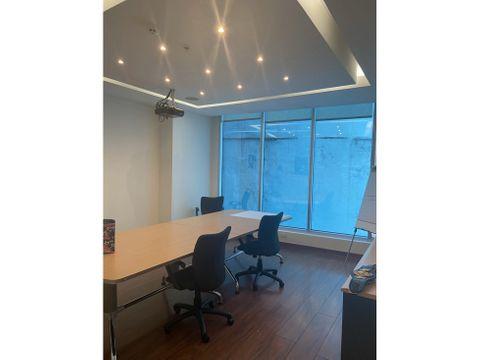alquilo oficina amoblada en torre banesco 160 m2
