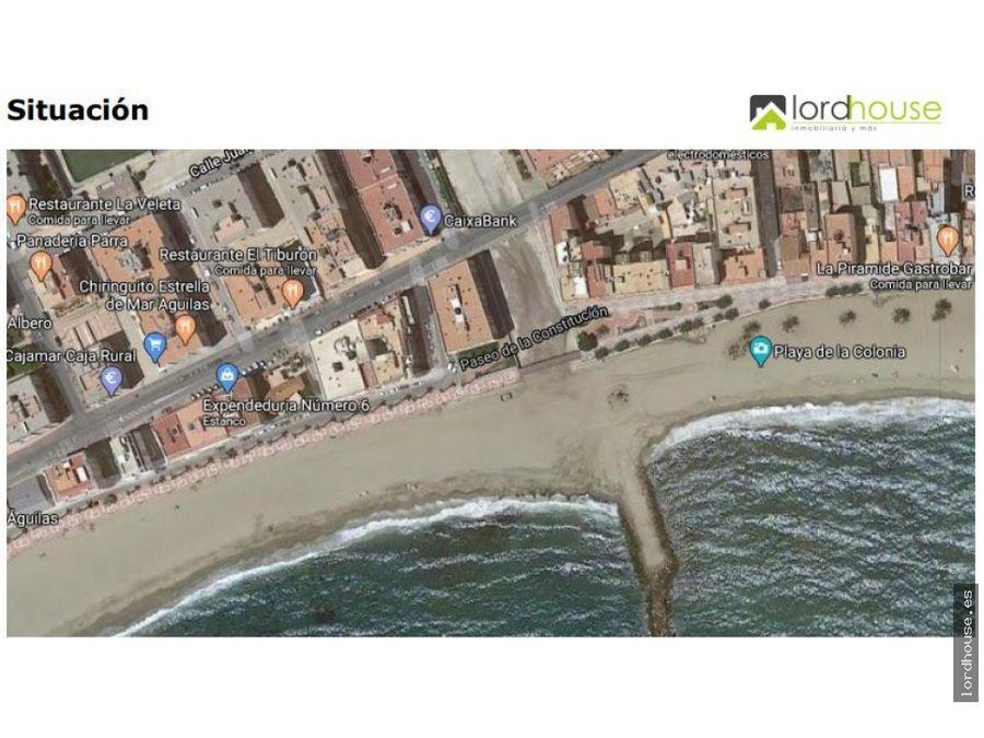 primera linea de playa la colonia aguilas