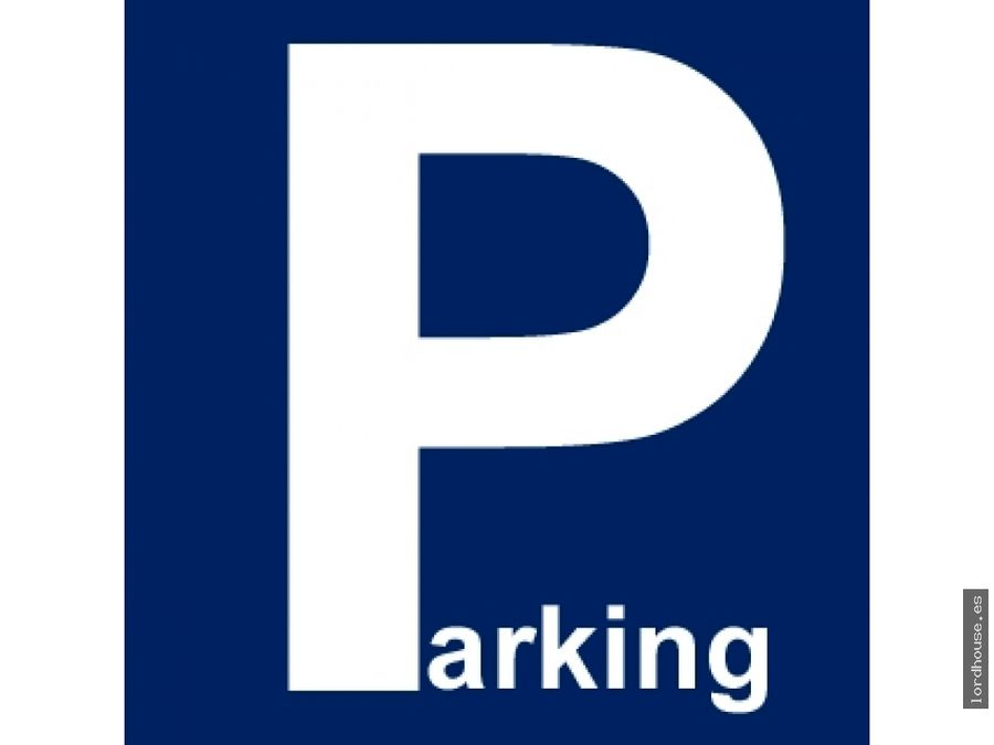 plaza de parking en alameda de cervantes