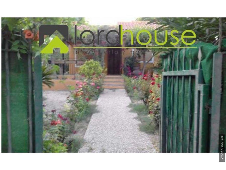 casa con jardin en totana la charca