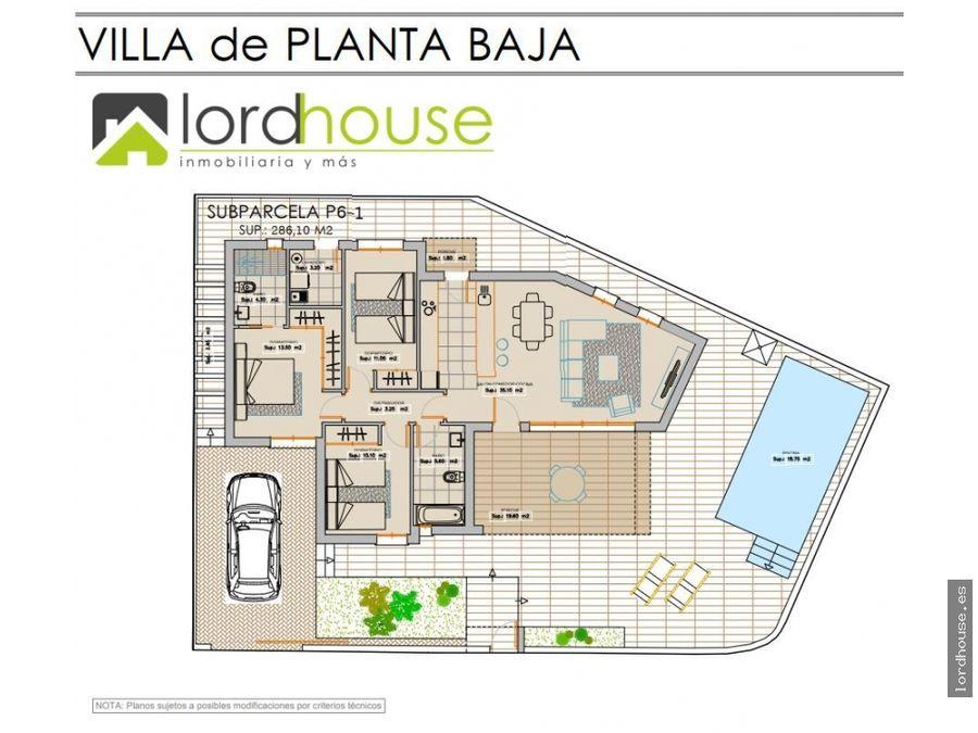 chalet 3 dormitorios con parcela de 285m2