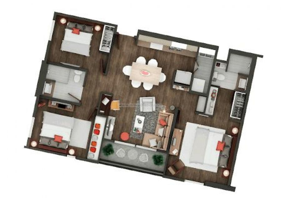 apartamento con vista al bosque