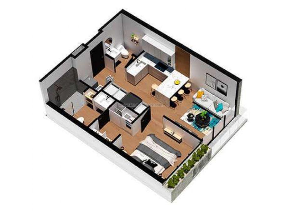 apartamento en santa ana con 1 habitacion