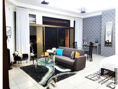 apartamento estudio full amueblado en alquiler en trejos