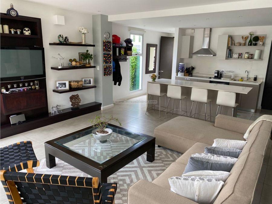 bella casa contemporanea en alquiler pozos santa ana