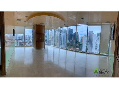 oficina en global bank semi amoblada con pisos de marmol