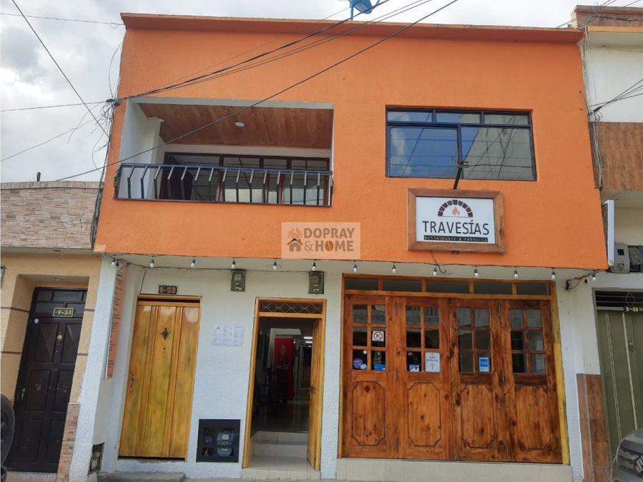 se vende casa con restaurante en el centro de circasia