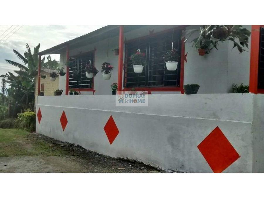 se vende o se permuta finca ubicada en la ciudad de quimbaya