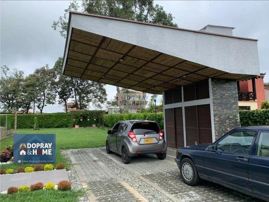 se vende casa campestre en conjunto cerrado en pueblo tapao