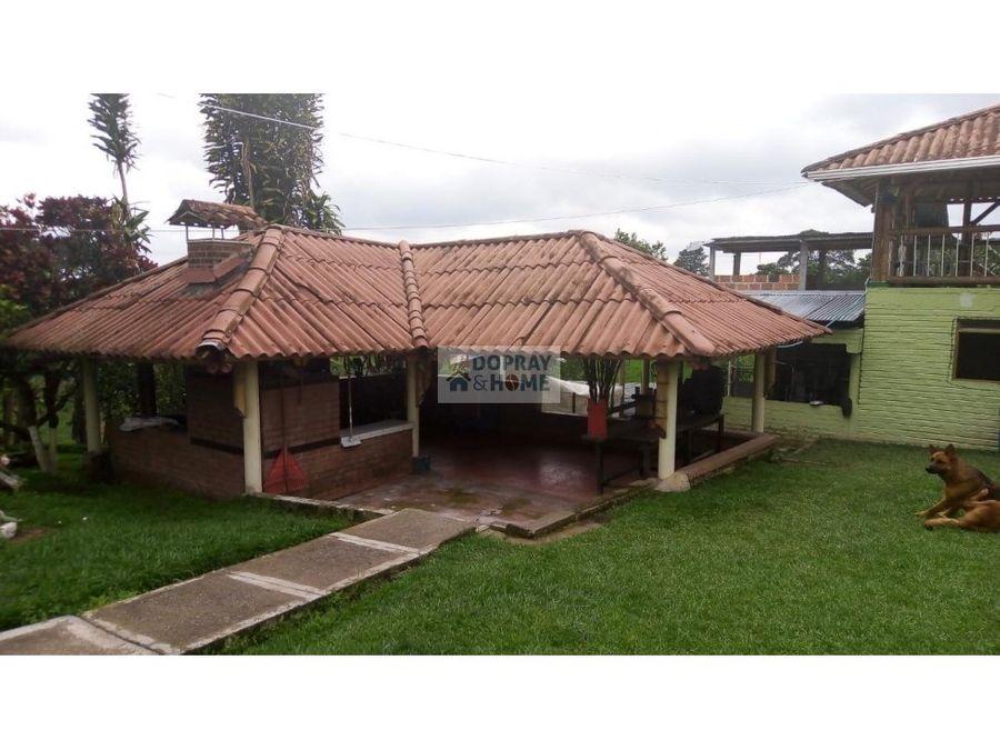 se vende finca chalet en quimbaya para proyecto turistico
