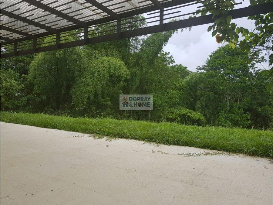 se vende casa campestre en via tebaida en conjunto cerrado