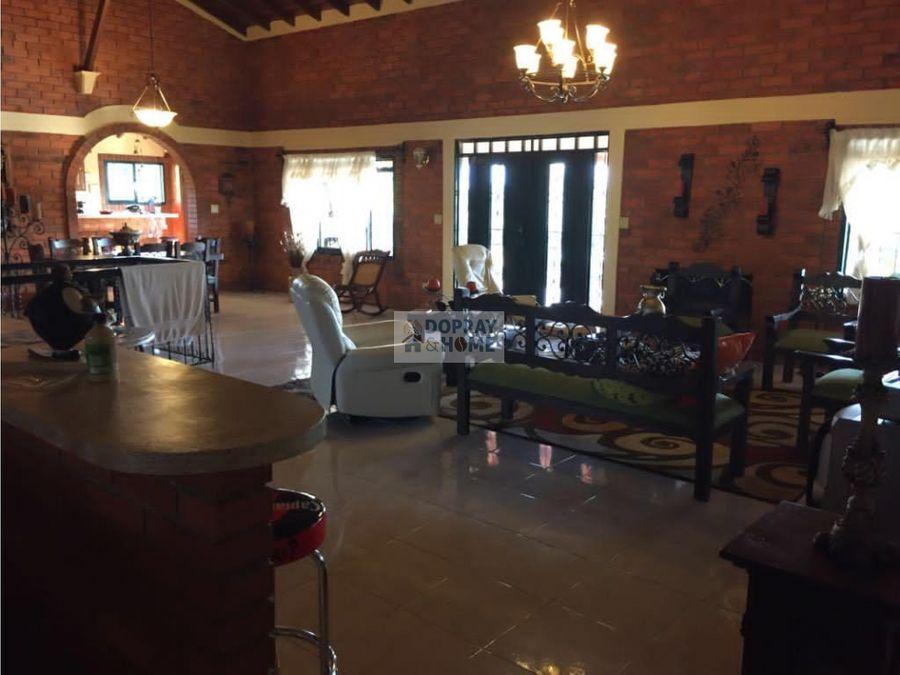 se vende espectacular casa campestre via quimbaya cartago