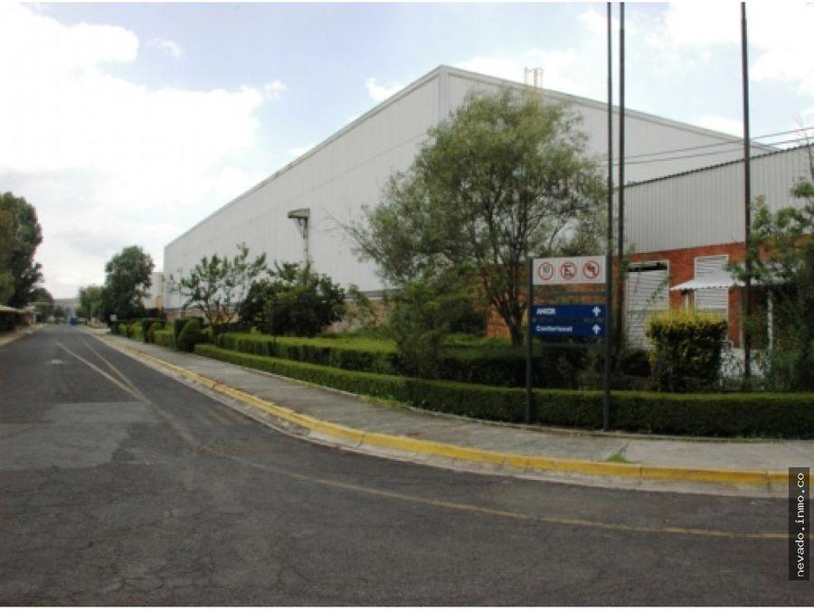 bodega industrial de 1786 m2 en renta en tlazala