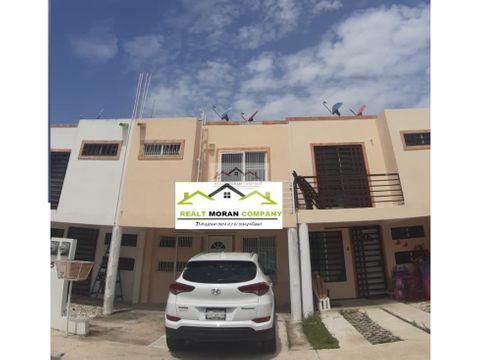 casa en venta en privada santa agata ciudad 2 recamaras del carmen