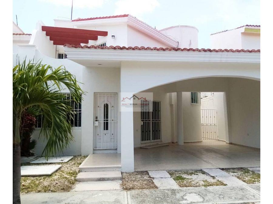 casa en renta amueblada hacienda del mar ciudad del carmen
