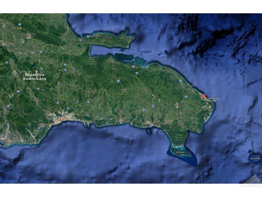 terreno 1000m2 en venta cocotal bavaro punta cana