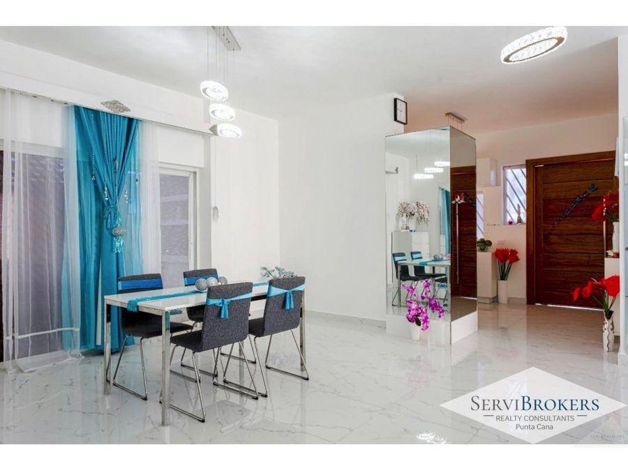 casa en venta 2 habitaciones punta cana