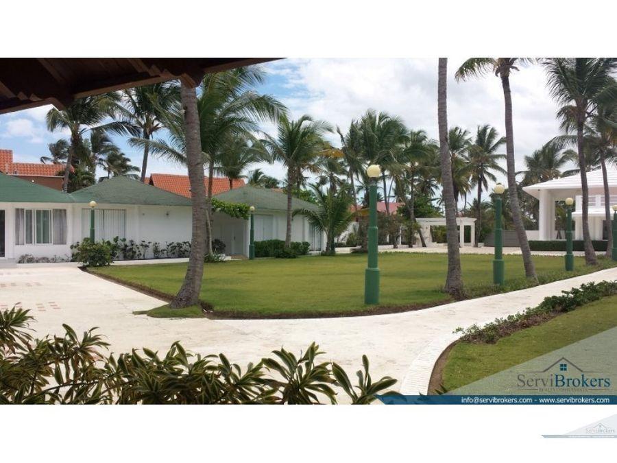 lujosa villa con playa en white sands punta cana