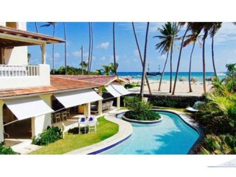 hermosa villa frente a la playa bavaro punta cana
