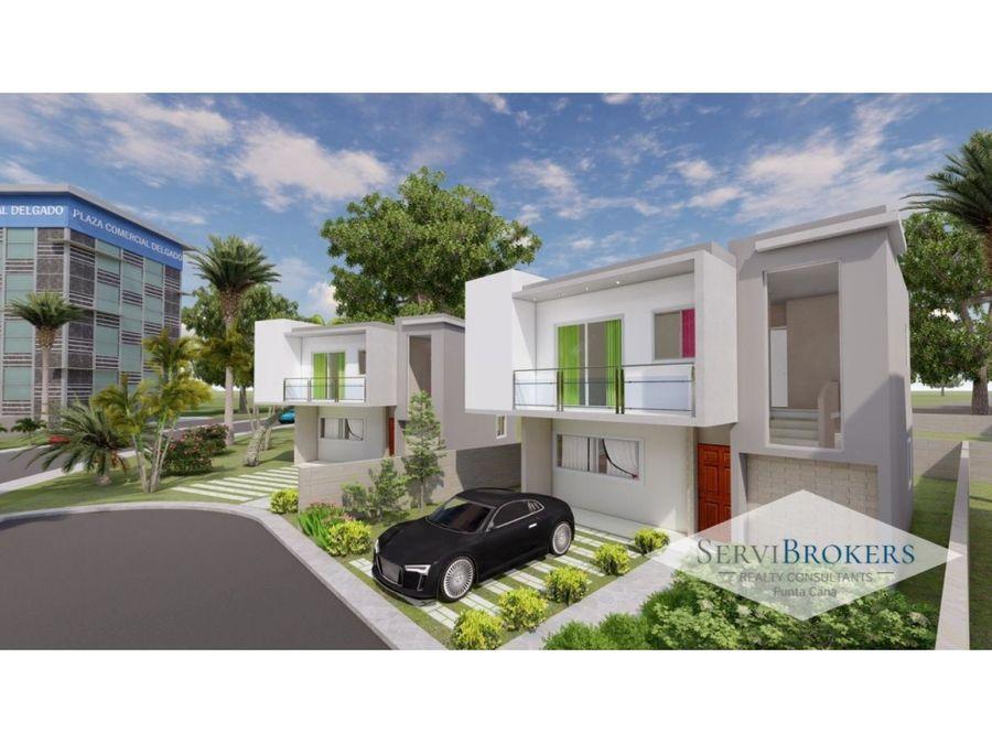 punta cana venta villa 89m2 2 habitaciones 2 banos