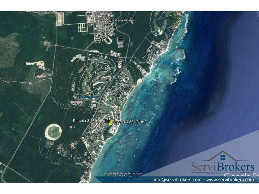 terreno en venta punta cana resort 3437 m2