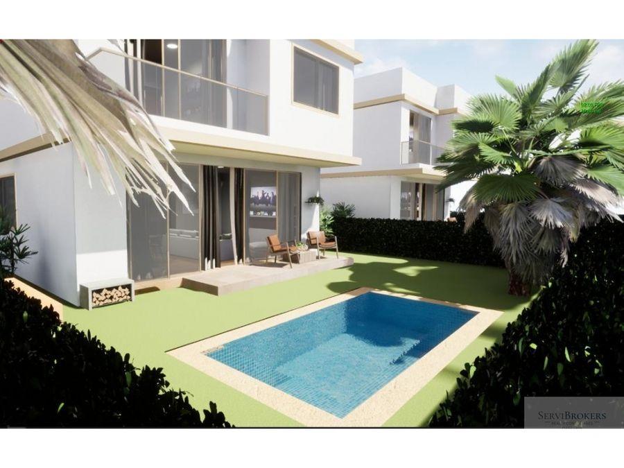 punta cana bavaro 3 hab villas con piscina en venta