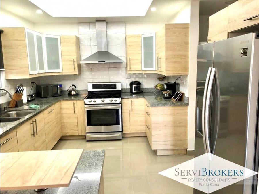 punta cana casa 3 habitaciones 35 banos con muebles