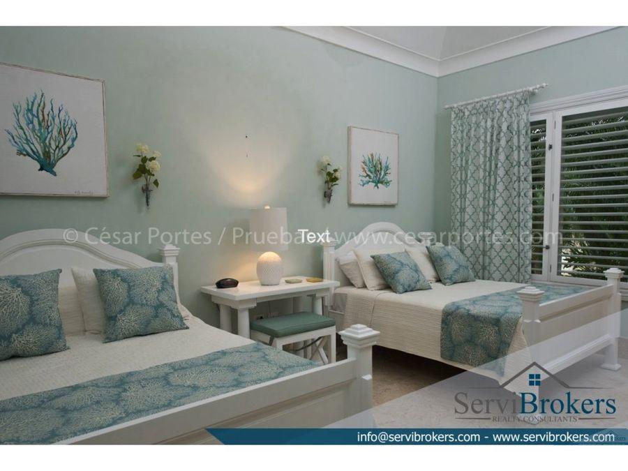 villa amueblada 4 habitaciones arrecife punta cana