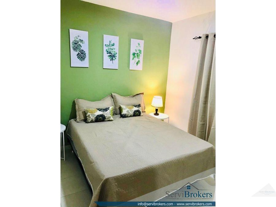 punta cana apartamento 2 habitaciones 1 bano con muebles