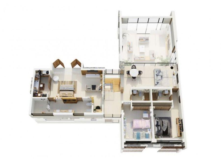 punta cana residencia ecuestre villa 4 habitaciones en venta