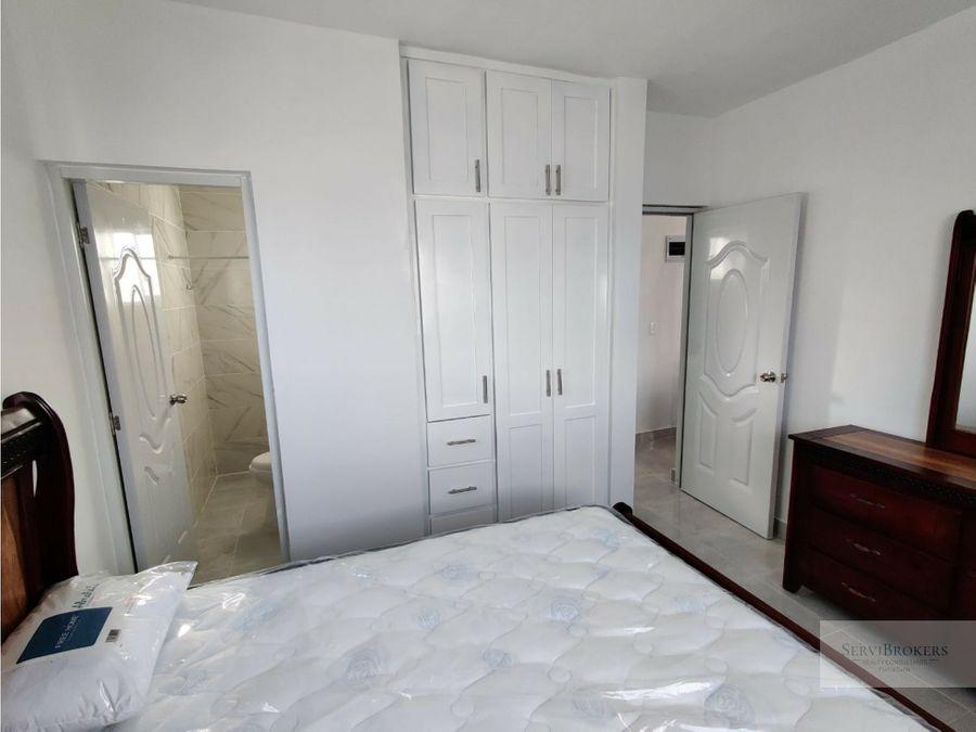 casa 2 habitaciones en renta a estrenar punta cana