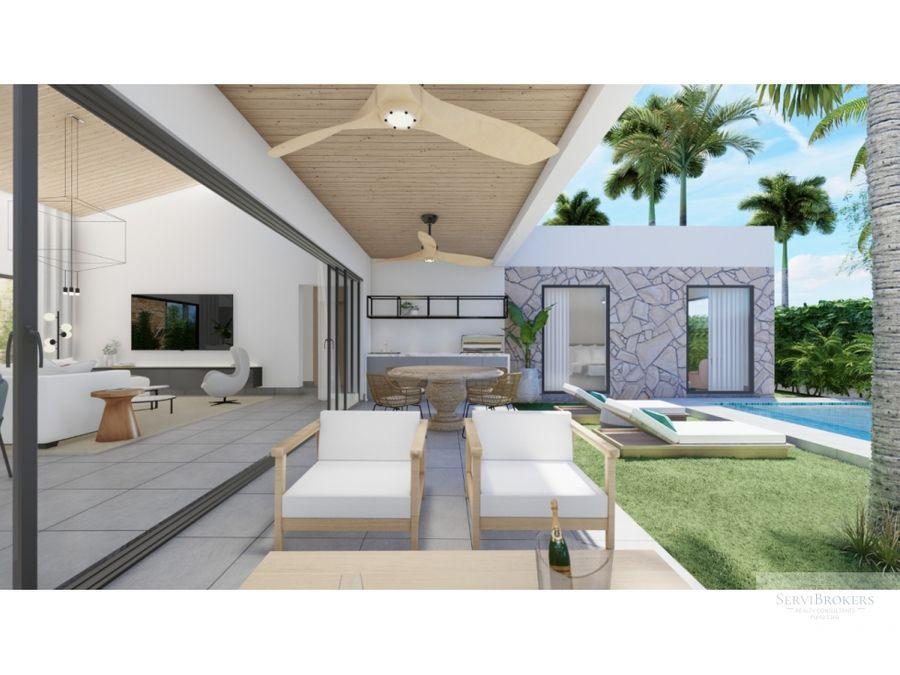 nueva villa en venta 4 habitaciones punta cana west village