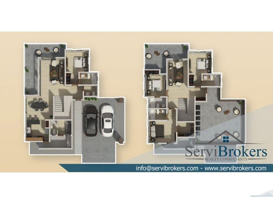 punta cana bavaro casa 4 habitaciones en construccion