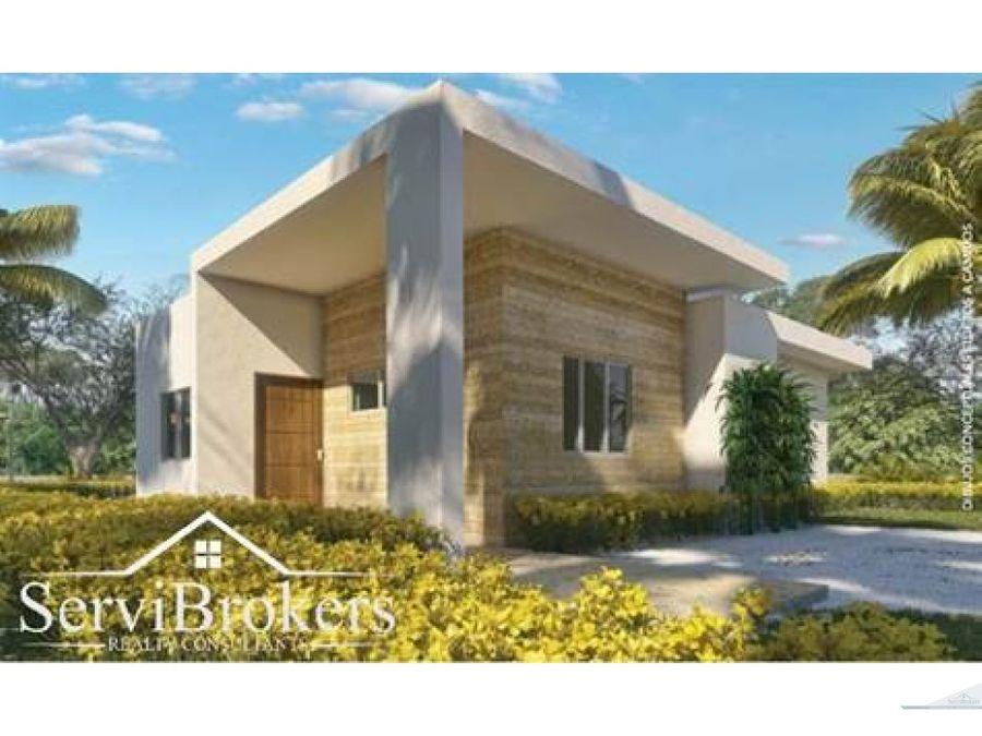 venta casa de 3 habitaciones serv en punta cana