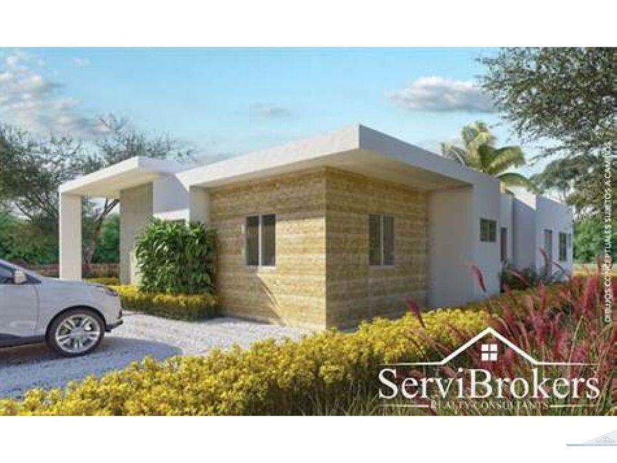 casa de 3 habitaciones 2 banos con jardin en punta cana
