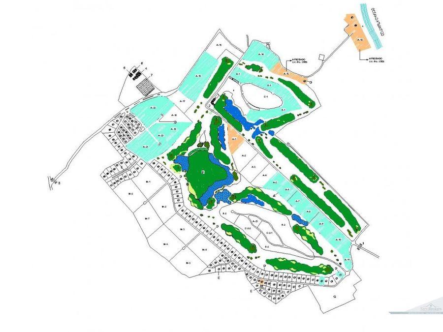 golf 18 hoyos y parcelas residenciales punta cana