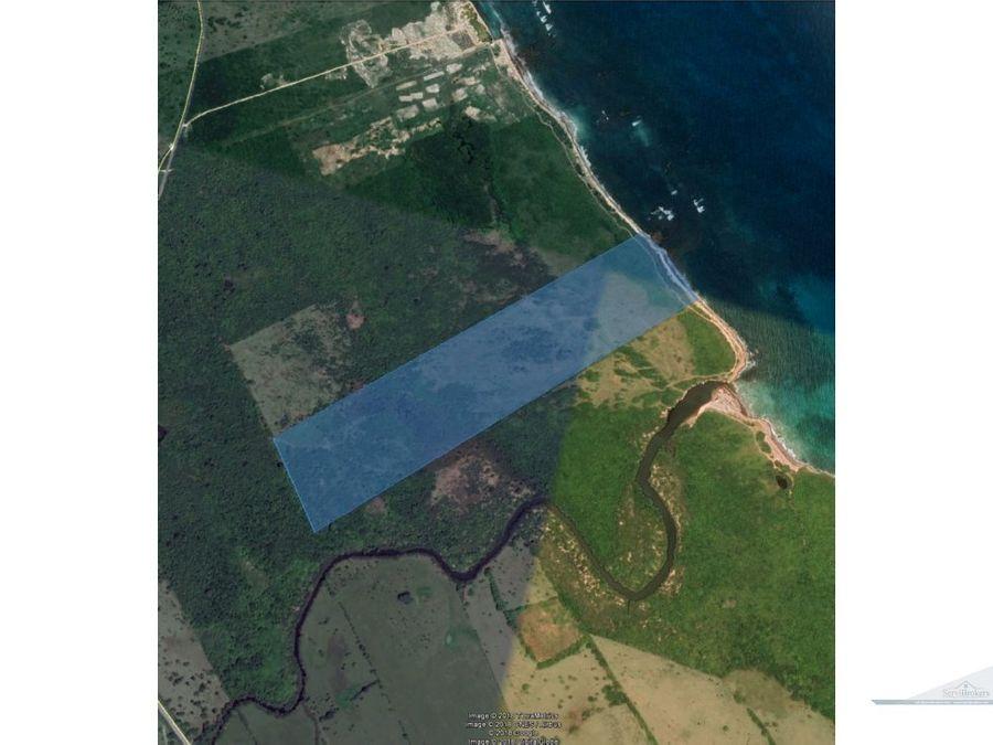 terreno playa punta cana 490000m2 uvero alto