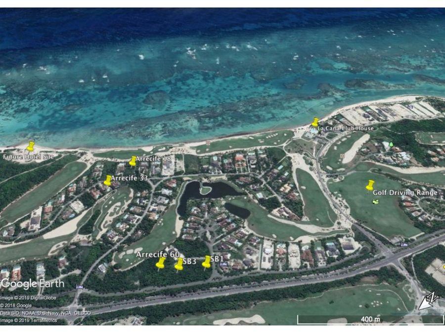 solares en venta arrecife punta cana resort