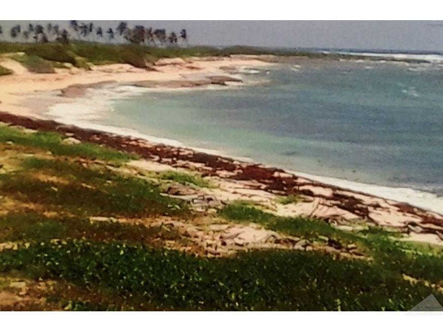 terreno playa 3000 m2 cabeza de toro punta cana
