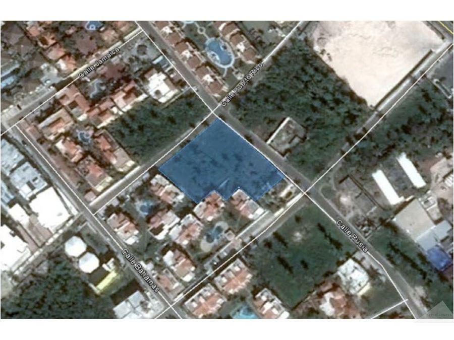 terreno en venta 2687m2 land for sale bavaro cortecito 2687 sqf