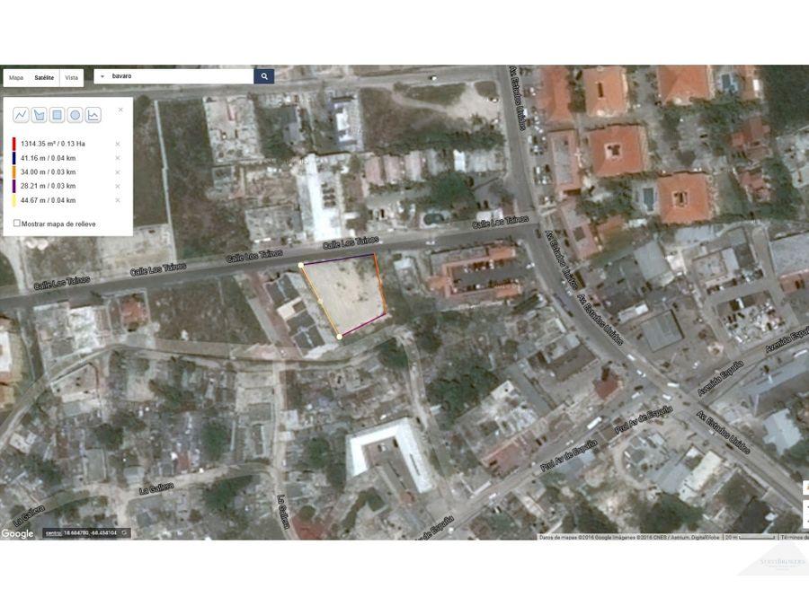 terreno en venta 1311m2 land for sale 1411149 sqf friusa bavaro