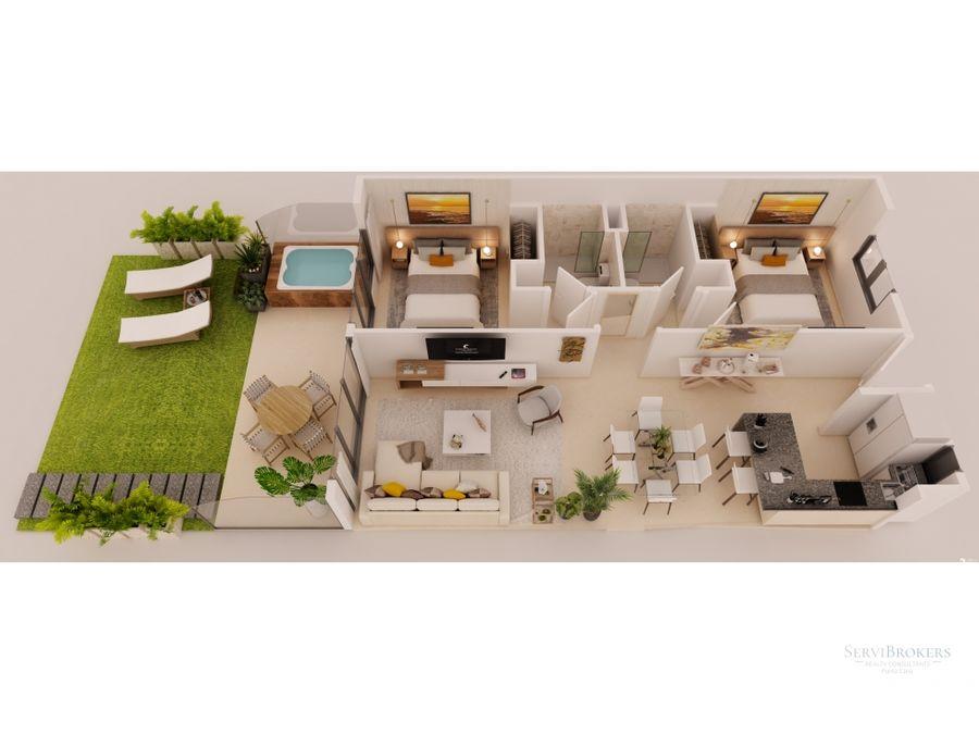 punta cana condominios en venta 2 habitaciones