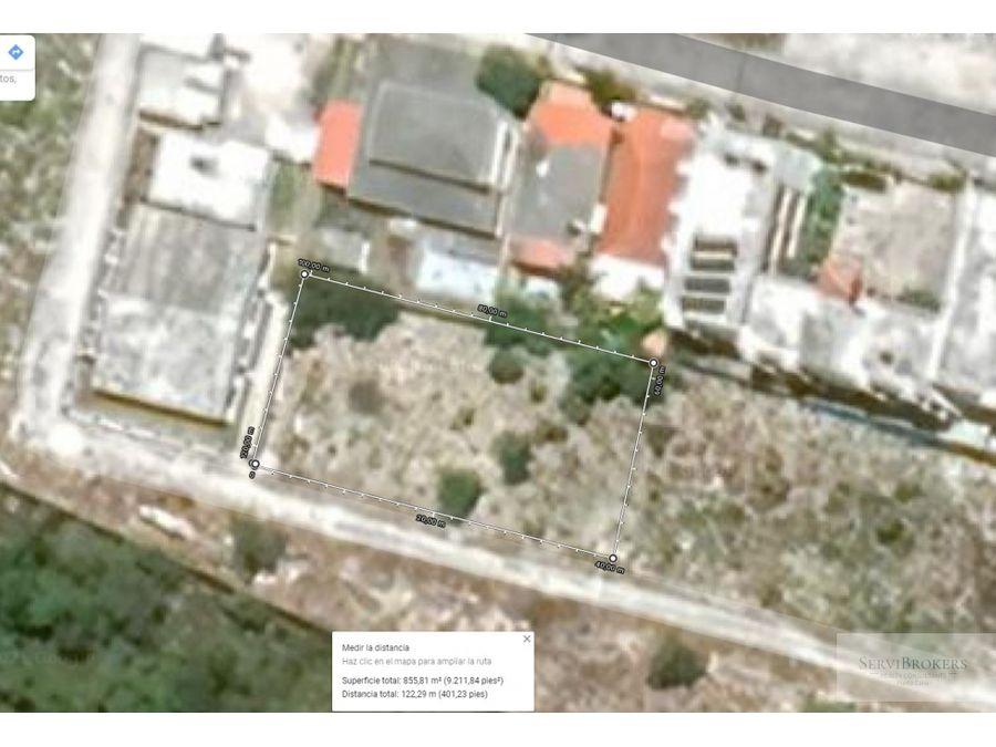 terreno en venta 850m2 bavaro land for sale 914932sqf