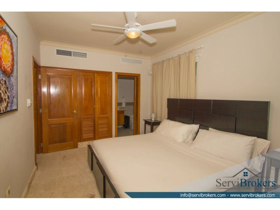 apartamento con playa privada 1 hab punta cana