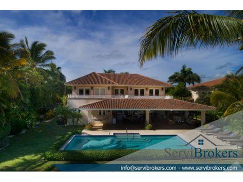 elegante villa 4 habitaciones 55 banos puntacana resort