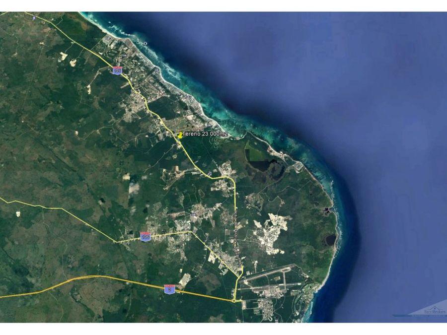 terreno comercial industrial 23000 m2 con 200ml