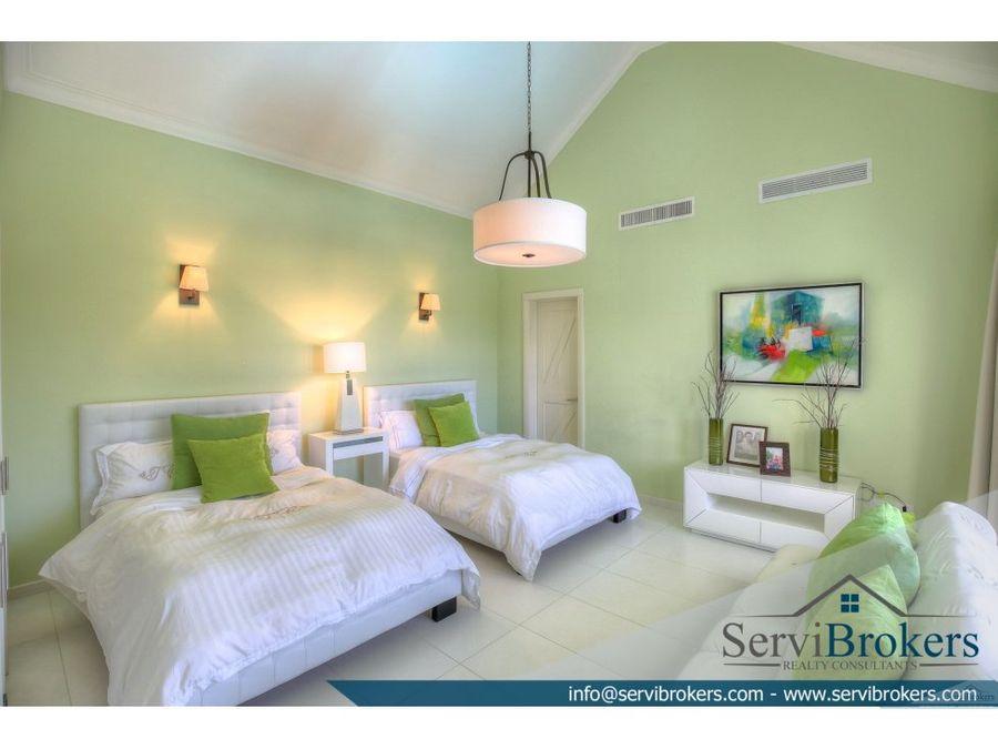 tortuga bay villa 4 habitaciones punta cana