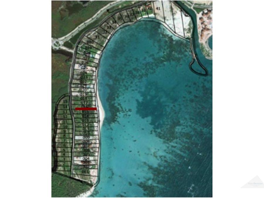 venta de terreno frente al mar en cap cana